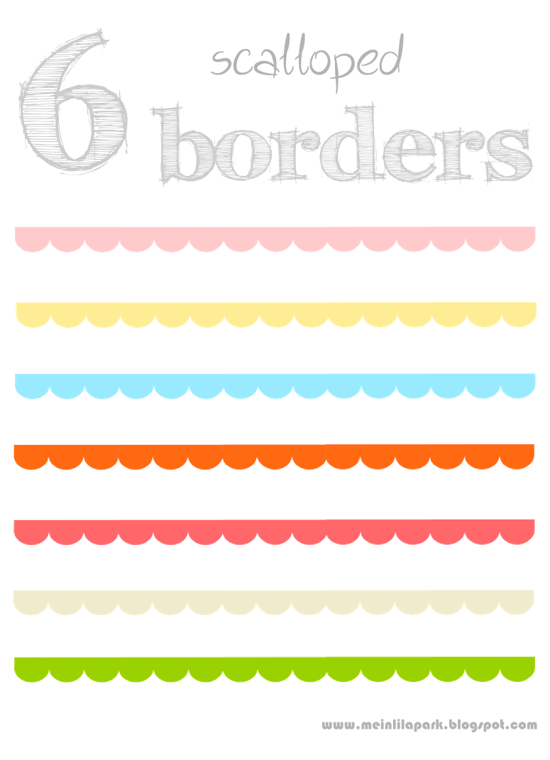 Scalloped Edge Border Clipart.