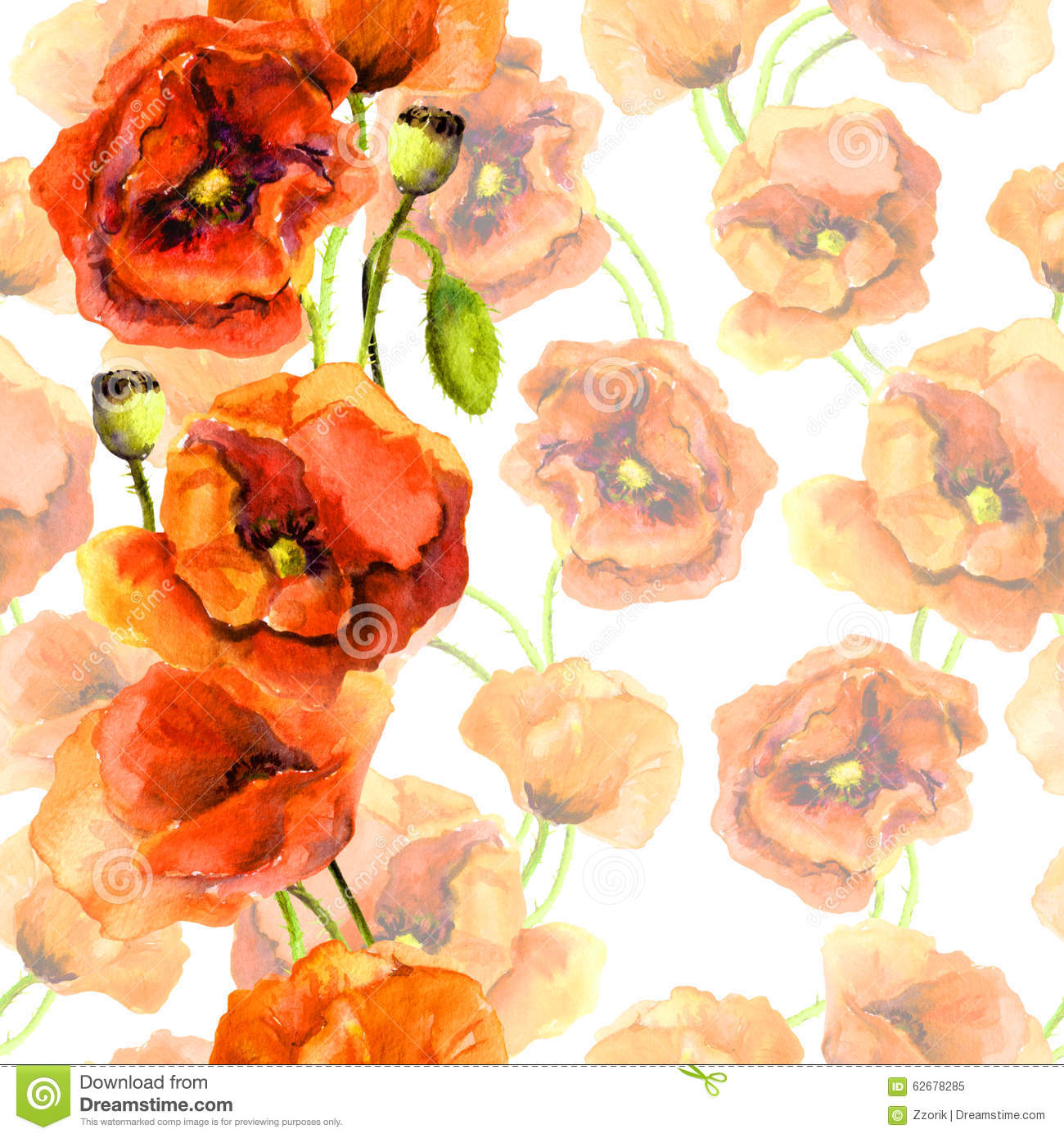 Seamless Floral Swatch.