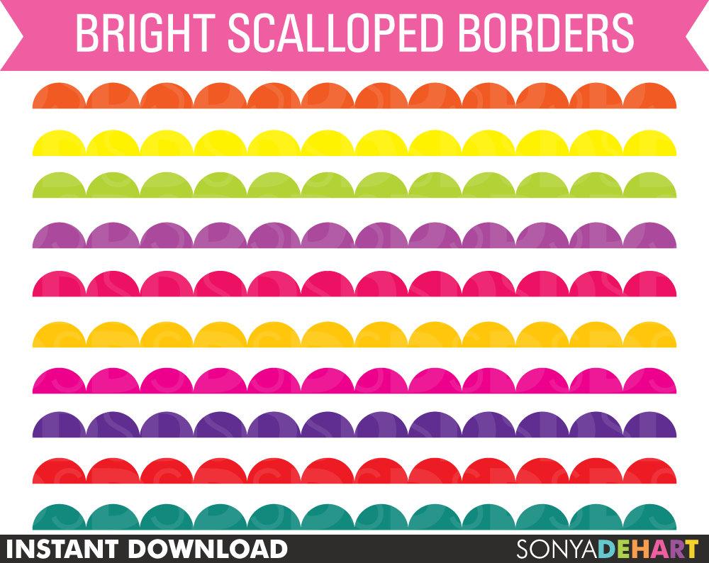 80% OFF Sale Clipart Borders Digital Borders by SonyaDeHartDesign.