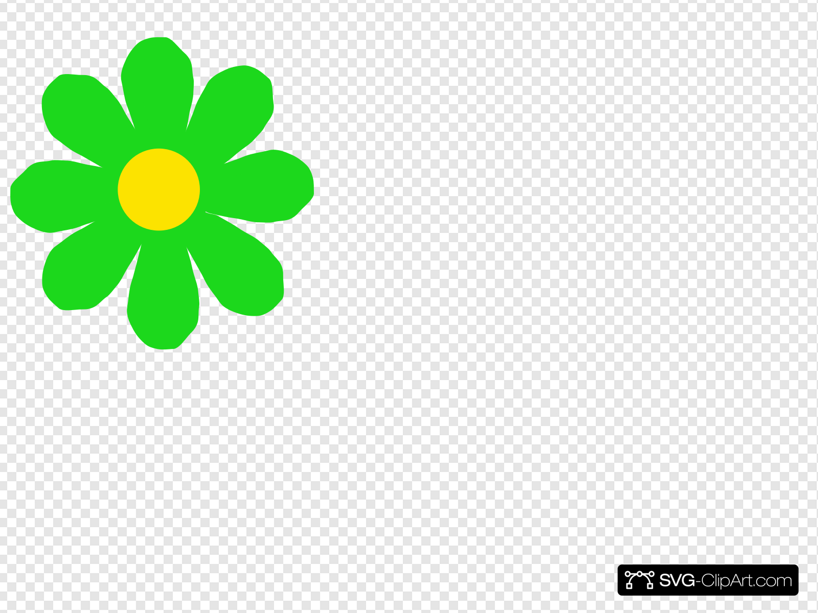 Bright Green Flower Clip art, Icon and SVG.