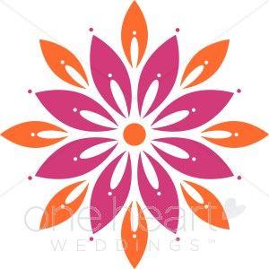 Bright Flower Clipart.