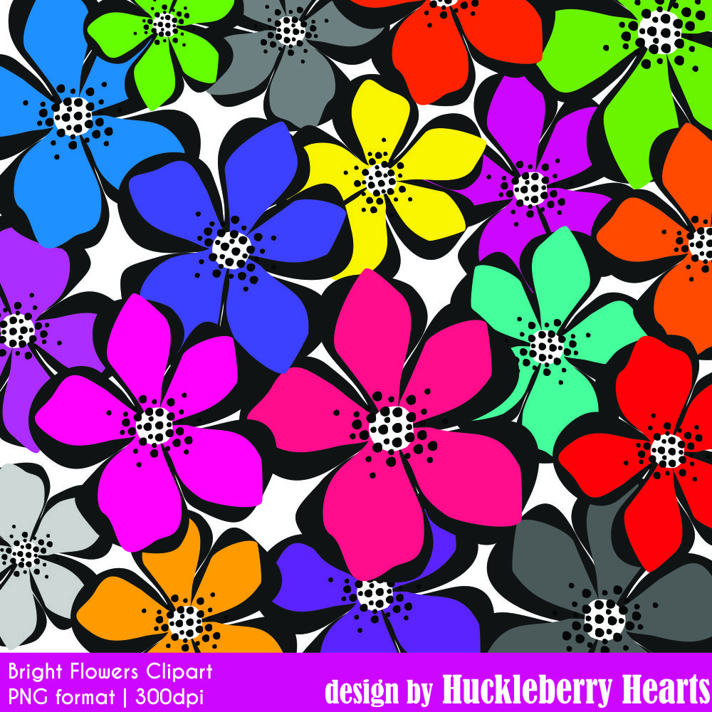 Bright Flower Clipart.