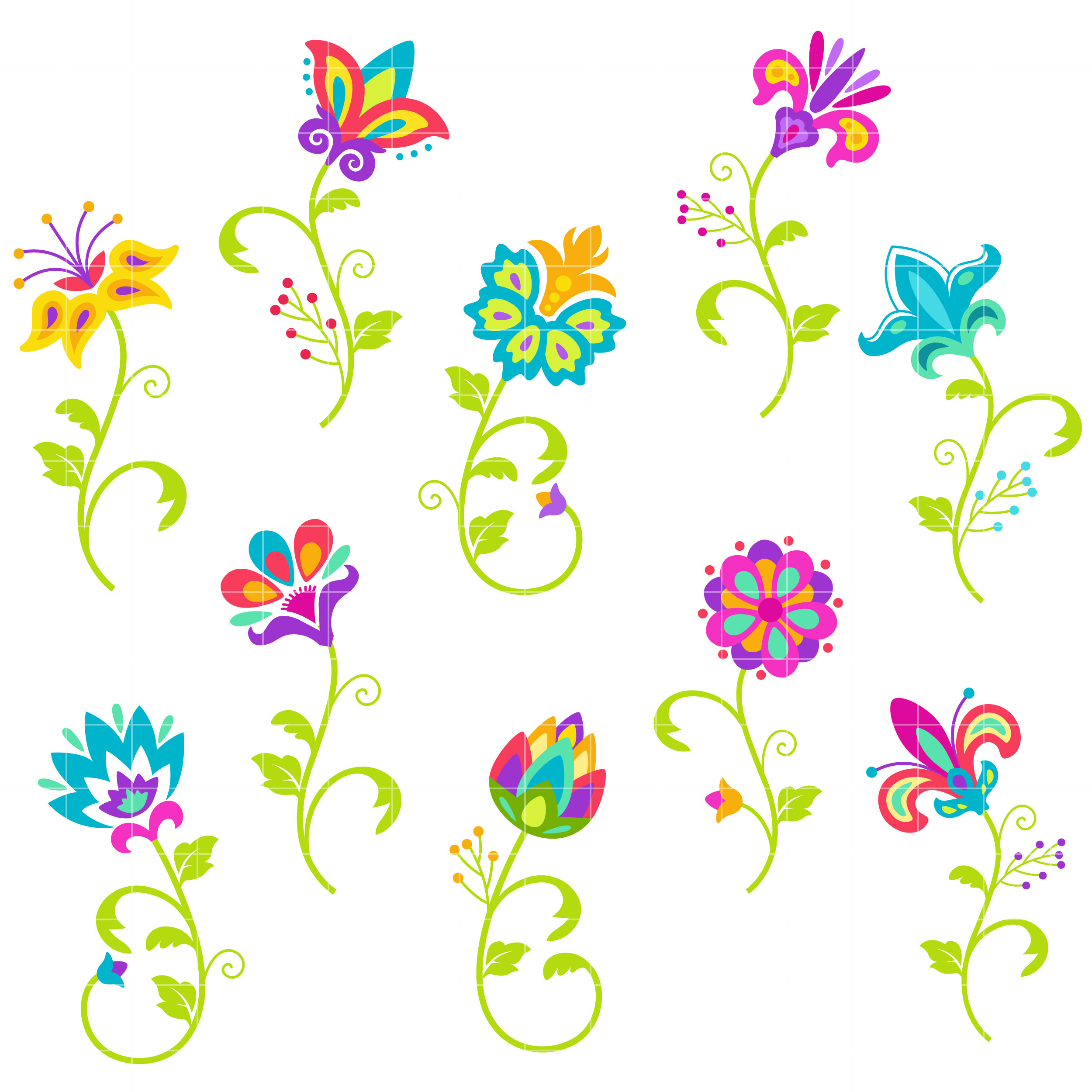 Bright flowers clipart 6 » Clipart Station.