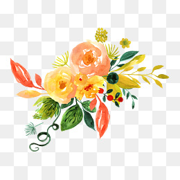 Bright Flowers PNG Images.