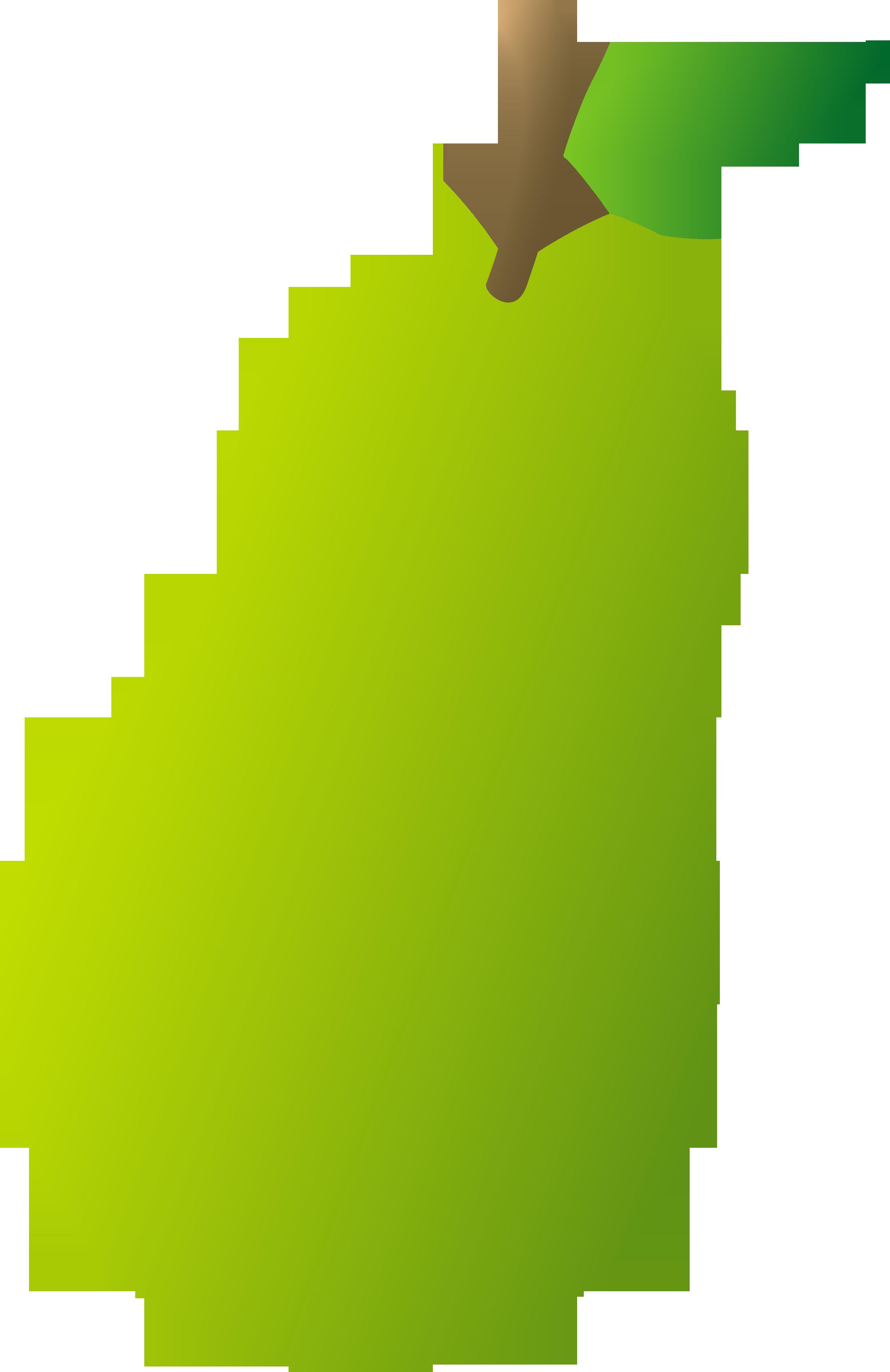 Green pear clip art.