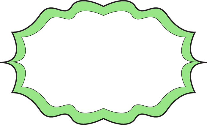 Lime Green Frame Clipart.