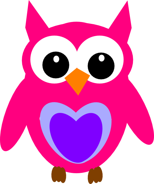Hot Pink Owl Clip Art at Clker.com.