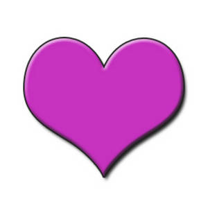 Clipart Picture of a Hot Pink Embossed Heart.