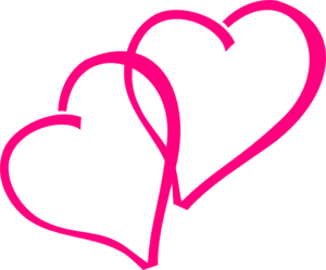 Hot pink heart clipart.