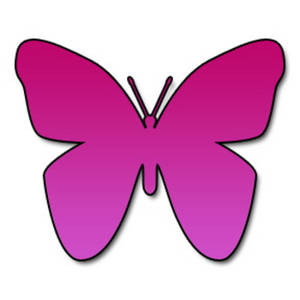 Clipart Picture of a Hot Pink Butterfly.