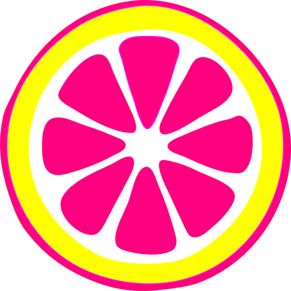 Bright Pink Lemon Clipart.