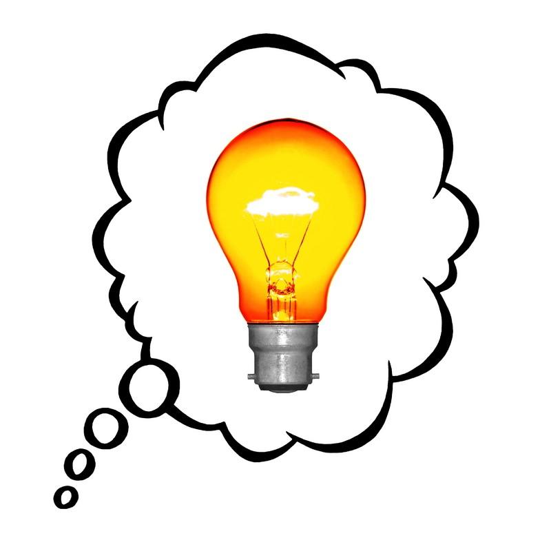 Bright Idea Bubble Clipart.