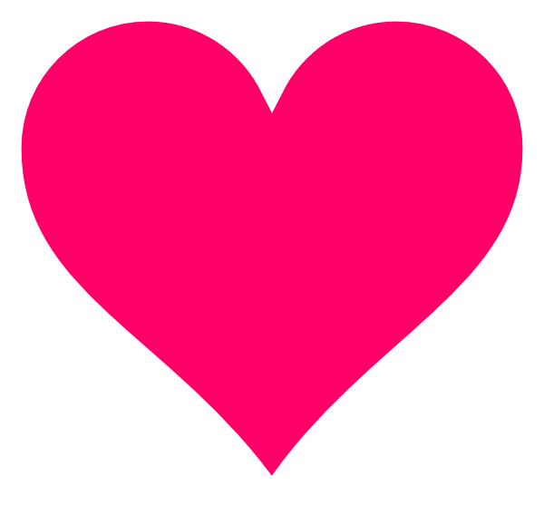 Hot Pink Floating Hearts Clipart.