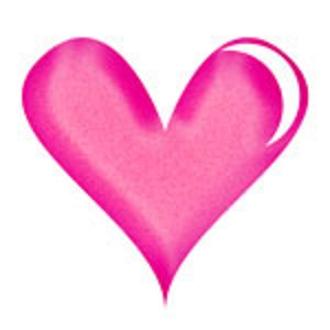Bright Pink Heart Background Clipart.