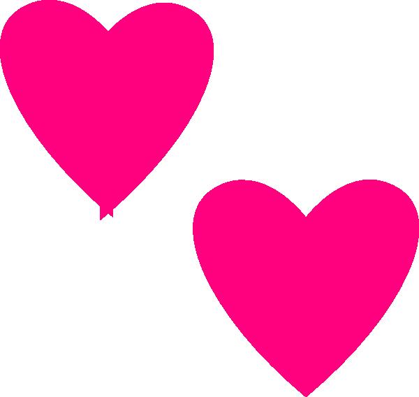 Hot Pink Double Hearts Clip Art at Clker.com.