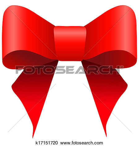 Clipart of Bright red gift bow k17151720.