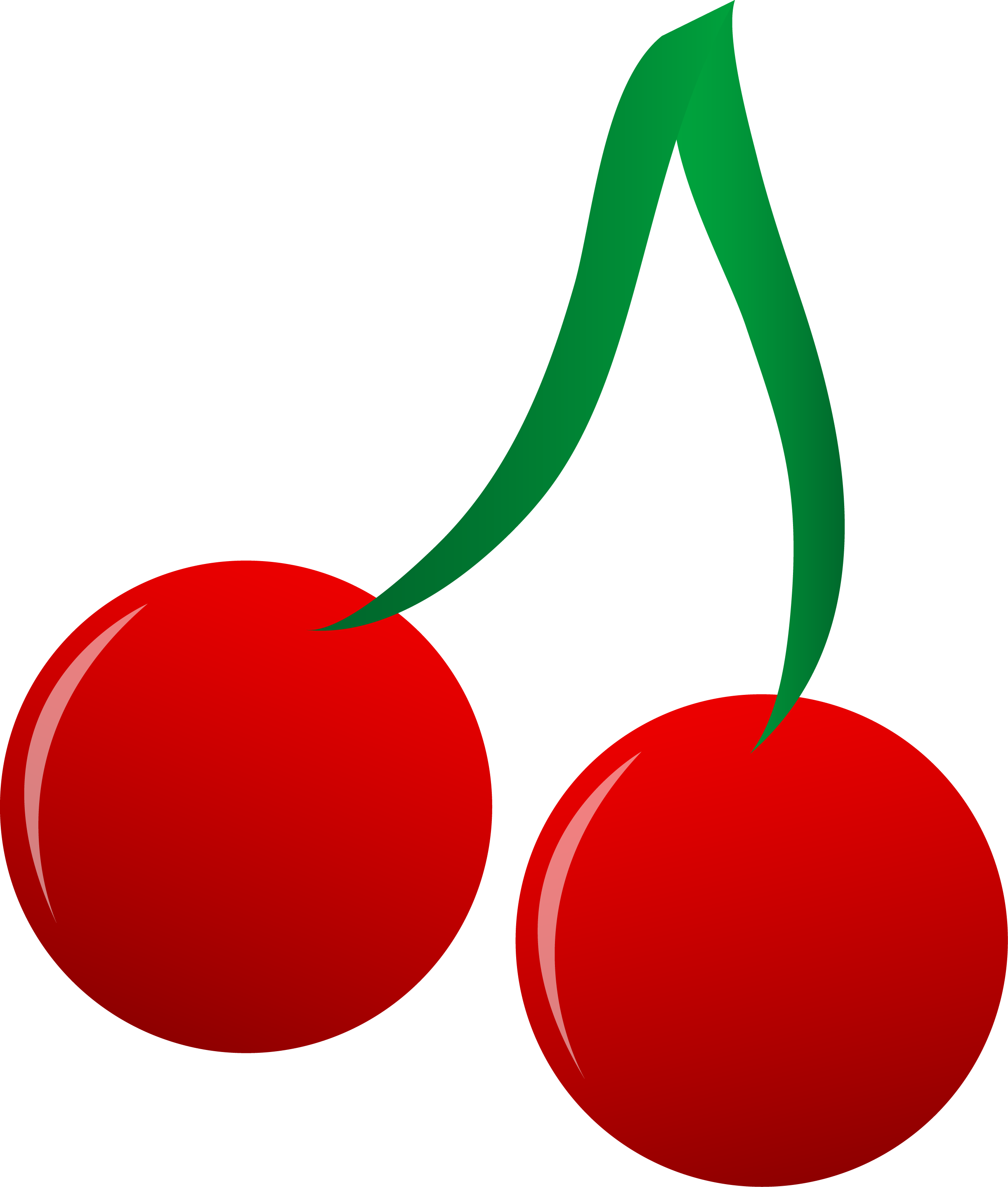 Bright Red Cherries Vector Art.