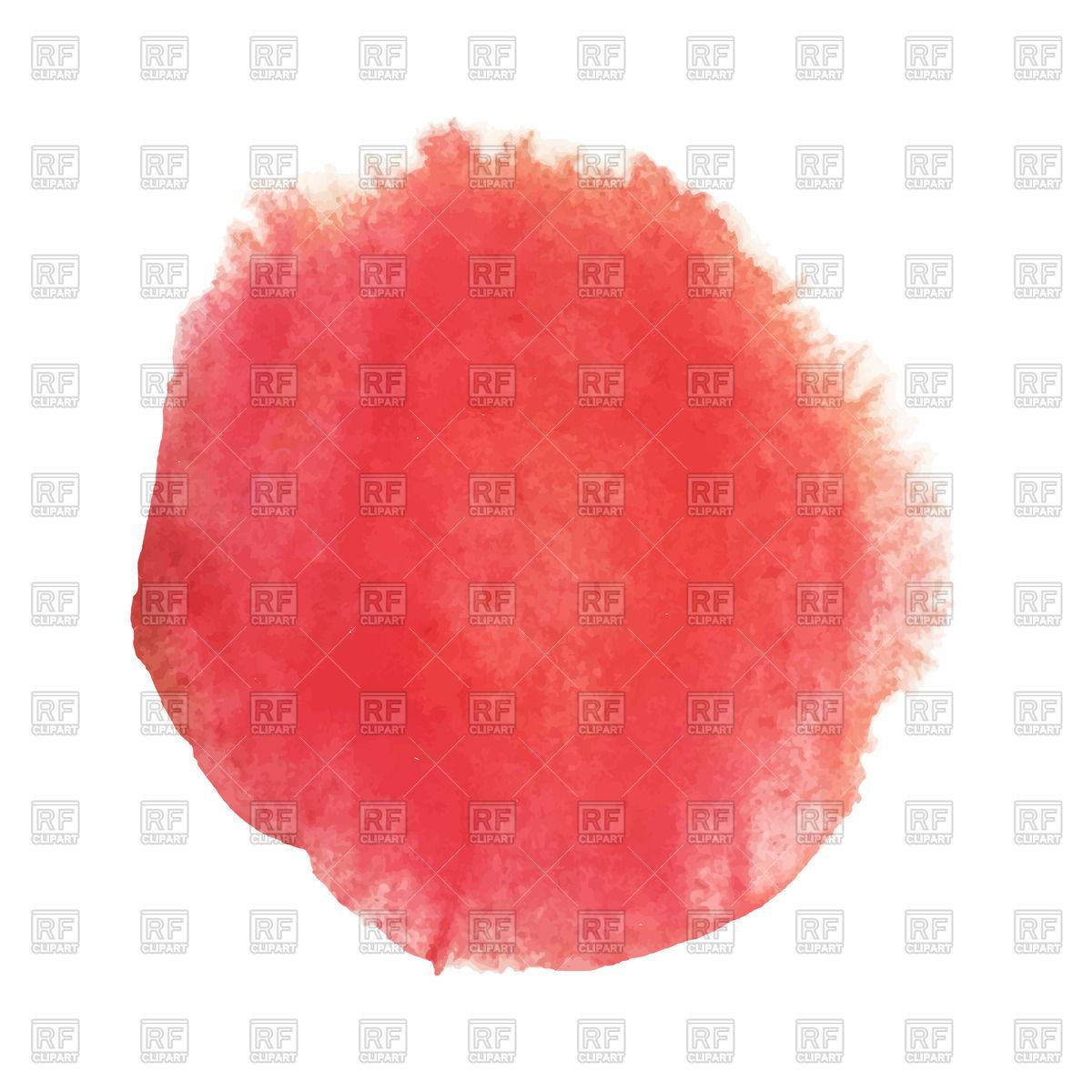 Bright red watercolor circle Vector Image #44576.