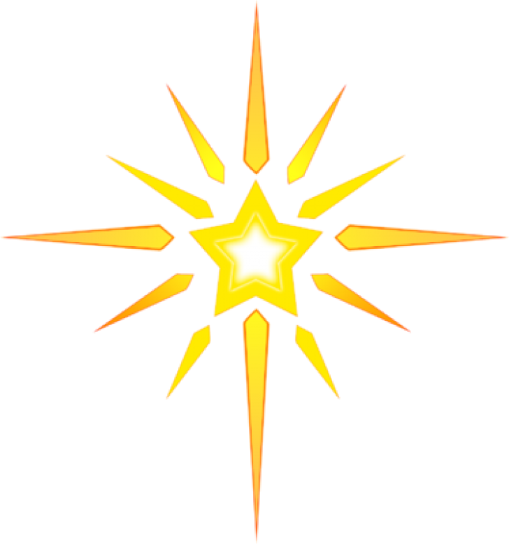 Clipart Transparent Bright Star , Transparent Cartoon.