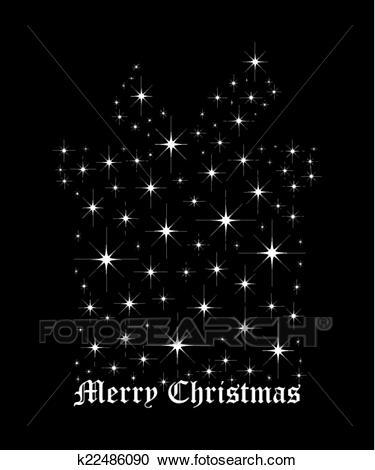 Christmas Gift box bright star Clipart.