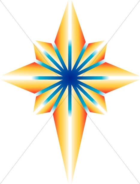 Bright Shining Nativity Star Clipart.