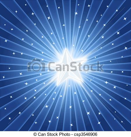 Clip Art Vector of bright shiny star.