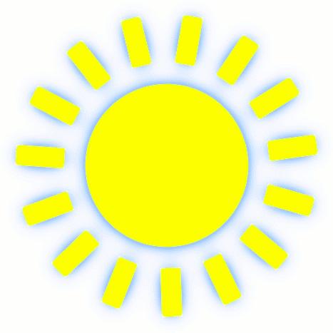 Bright Sun Clip Art.