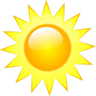 Bright sun clipart.