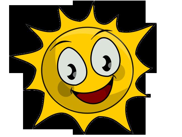 Clip Art Sun Shiny Day.