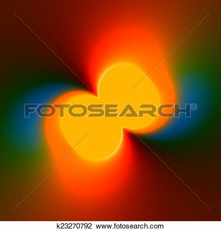 Clip Art of Colorful Abstract Background With Orange Fluorescent.