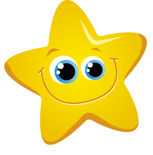 Clip art of little yellow star.