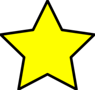 Clip art of little yellow star.
