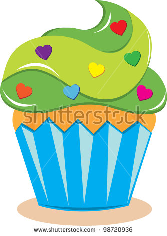 Clip Art Illustration Brightly Colored Bakery Stock Illustration.