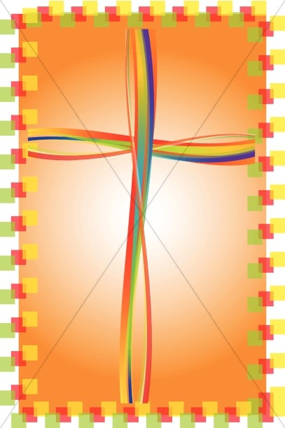 Brightly Colored Cross Clipart.