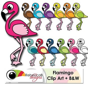 Flamingo Clip Art contains 12 brightly colored Flamingo Clip Art.