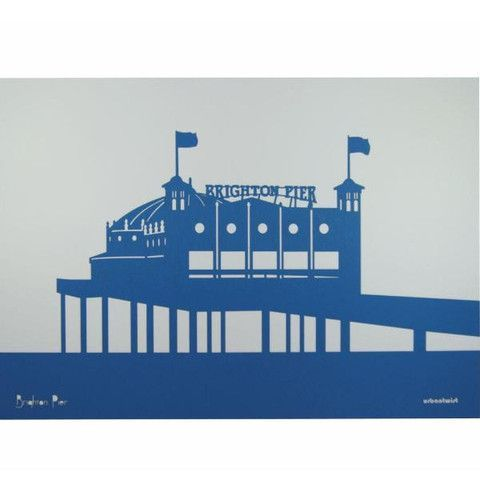 Brighton Pier Laser Art Clipart.