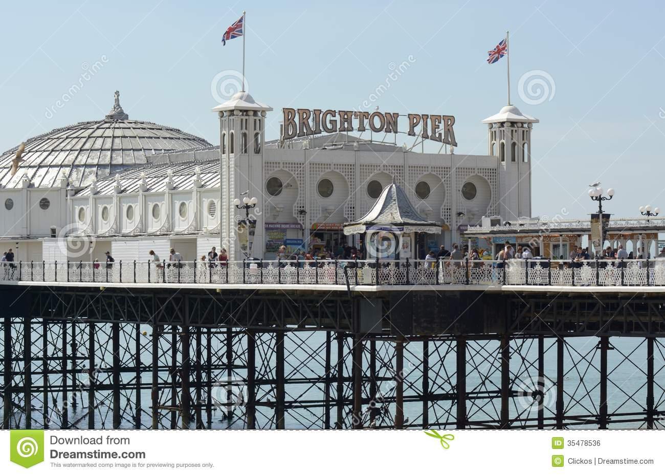 Brighton Pier. Sussex. England Editorial Photo.