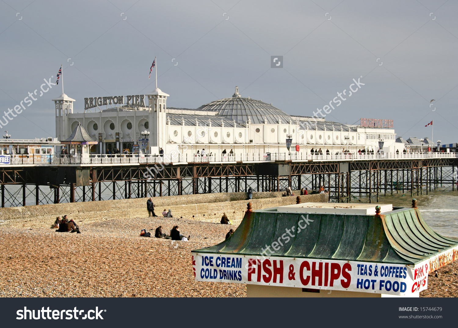 Brighton Pier Old Fish Chip Shop Stock Photo 15744679.