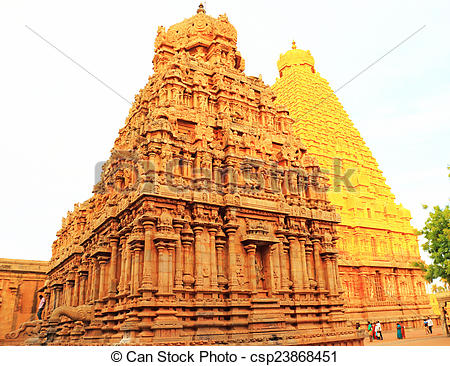 Stock Images of Brihadeshwara Temple and grounds, tanjore.