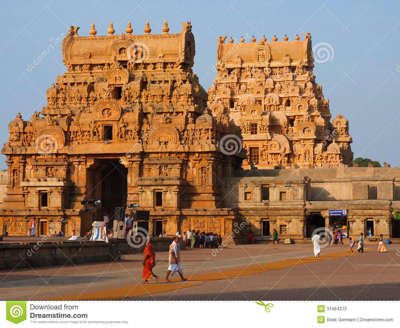 Brihadeshwara Temple At Thanjavur Editorial Photography.