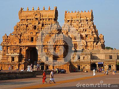 Brihadeshwara Temple At Thanjavur Stock Photos.