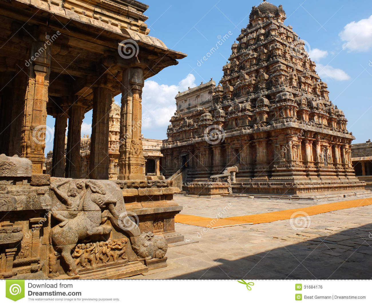 Brihadeshwara Temple At Thanjavur Stock Photos.