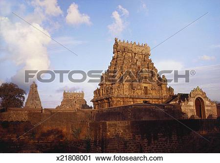 Stock Photography of Brihadeshwara Temple, Thanjavur, Tamil Nadu.