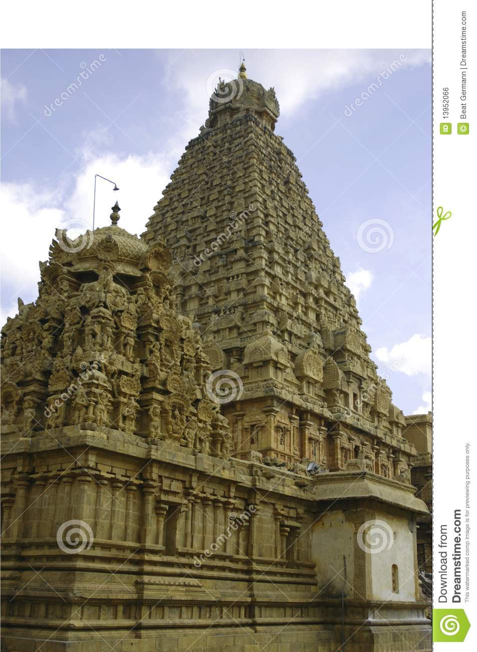 Brihadeshwara Temple At Thanjavur Royalty Free Stock Image.