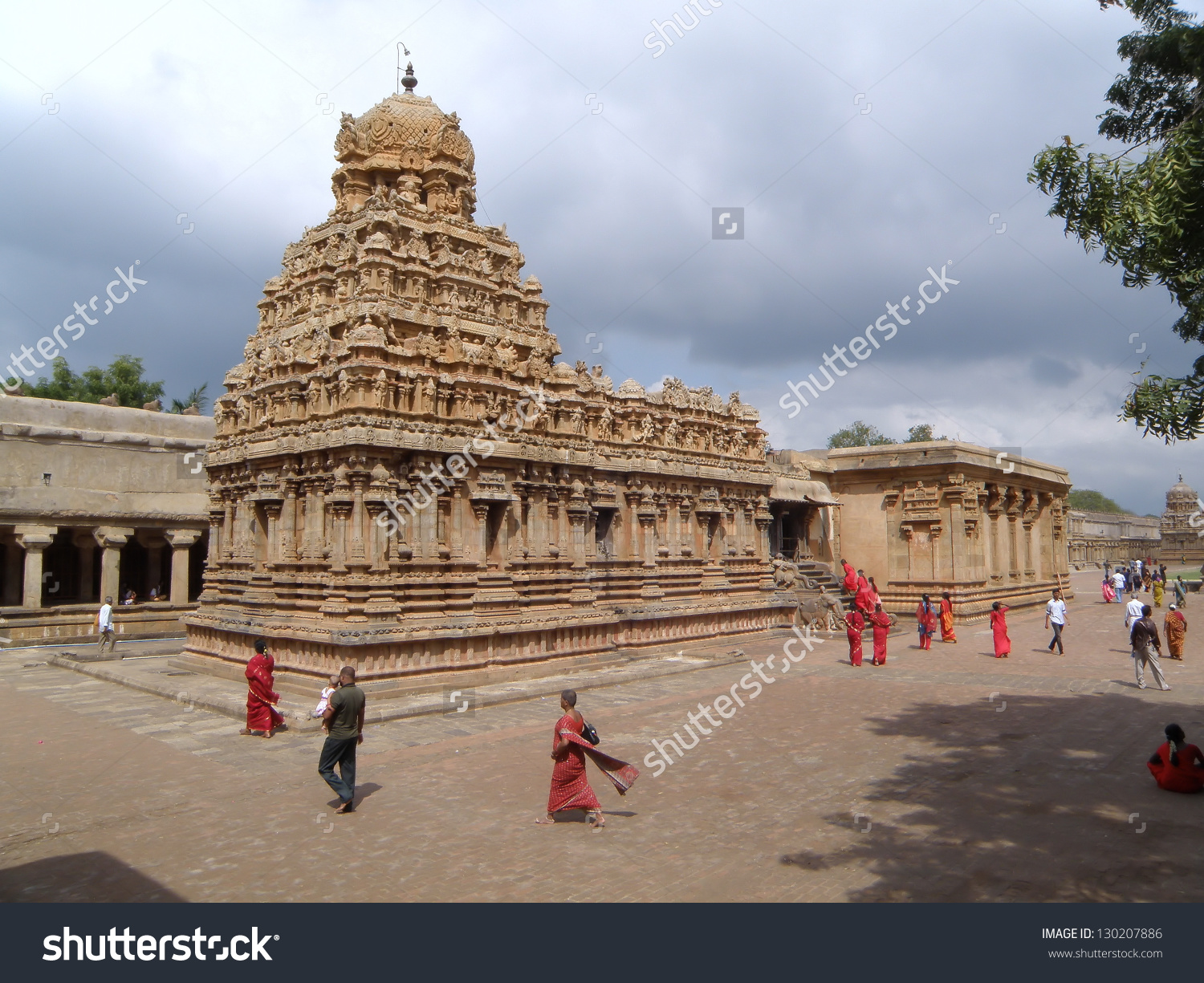 Brihadisvara Temple Thanjavur Hindu Temple Dedicated Stock Photo.