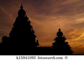 Brihadeshwara temple silhouette world heritage site thanjavur.