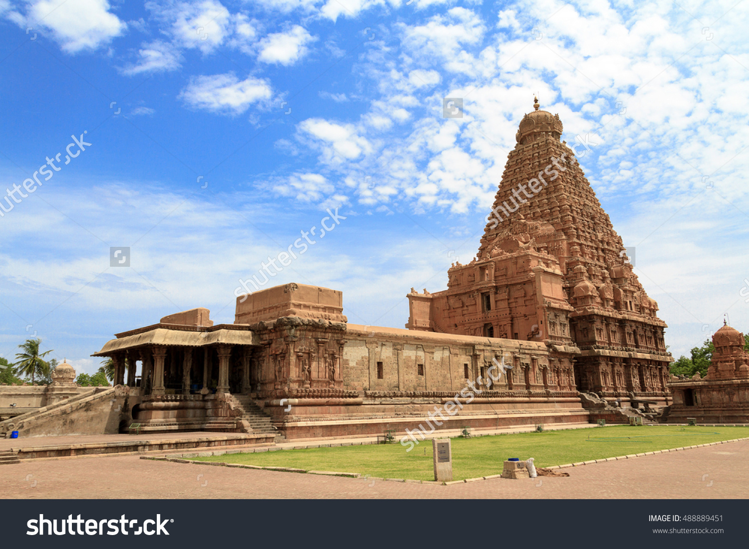 Tanjore Big Temple Brihadeshwara Temple Tamil Stock Photo.