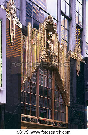 Stock Photograph of Facade of office building, Brill Building.