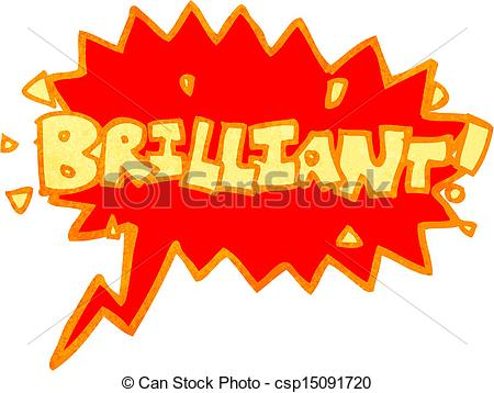 Vector Illustration of retro cartoon brilliant comic book shout.