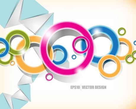 Brilliant colored circles 01 vector Free vector in Encapsulated.